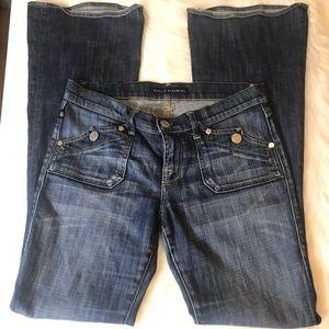 Rock & Republic Medium Wash Flap BootCut Jean